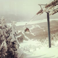 Photo taken at Sommet du Mont-Tremblant Summit by Samuel H. on 2/12/2012