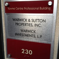 Photo taken at Warwick & Sutton Properties, Inc. by Harvey C. on 4/5/2012