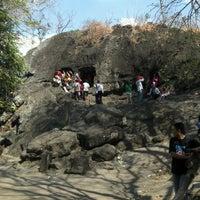 Photo taken at Goa Selomangleng by Rei P. on 8/22/2012