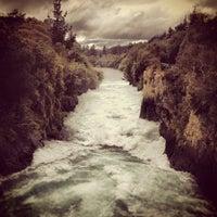 Photo taken at Huka Falls by Jaya G. on 8/14/2012