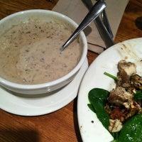 Photo taken at la Madeleine Country French Café by Ruben L. on 4/18/2012