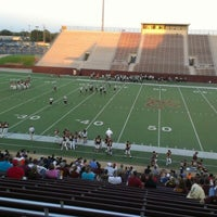 Photo taken at Clyde Abshier Stadium-DPISD by Kevin F. on 9/6/2012
