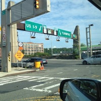 Photo taken at Holland Tunnel Toll Plaza by Aaron D. on 8/6/2012