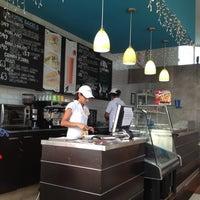 Photo taken at Los Bagels by Siobhan N. on 6/28/2012