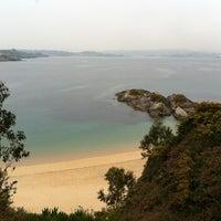 Photo taken at Praia de Espiñeiro by Alicia B. on 4/2/2012