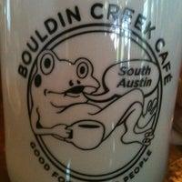 Photo taken at Bouldin Creek Café by JoVonna C. on 3/28/2012