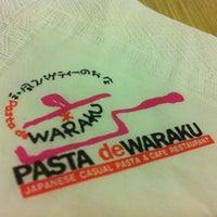 Photo taken at Pasta de Waraku by Aey on 5/26/2012