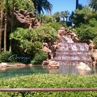 Photo taken at The Mirage Waterfall by Rob 🎄🌬☃❤ C. on 7/1/2012