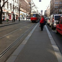 Photo taken at Štěpánská (tram) by Štěpán H. on 3/28/2012