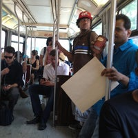 Photo taken at TTC Streetcar #504 King St by Cass on 7/13/2012