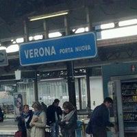 Photo taken at Verona Porta Nuova Railway Station by Luciano E. on 4/16/2012