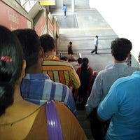 Photo taken at Rohini West Metro Station by Himanshu B. on 7/23/2012