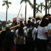 Photo taken at Stadium Nasional Bukit Jalil Car Park by Michelle on 8/31/2012