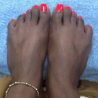 Photo taken at top hb nails by Kim M. on 8/8/2012