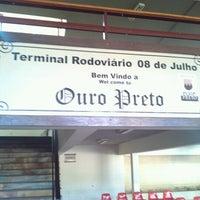 Photo taken at Terminal Rodoviário de Ouro Preto by Rodrigo S. on 6/17/2012