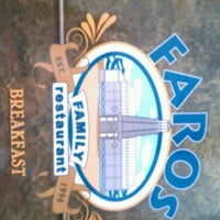 Photo taken at Faros Family Restaurant by Robert F. on 6/9/2012