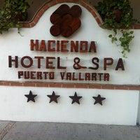 Photo taken at Hacienda Hotel & Spa by Fernando C. on 4/25/2012