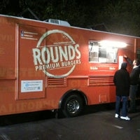 Photo taken at Rounds Premium Burgers Truck by Angela R. on 4/15/2012