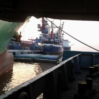 Photo taken at Terminal Peti Kemas Pelabuhan Pontianak by Aq B. on 8/8/2012