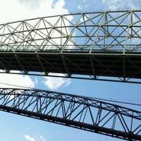 Photo taken at Sault Sainte Marie International Bridge by Leslie L. on 6/23/2012