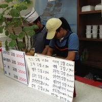 Photo taken at 김밥제작소 by KJ on 7/9/2012