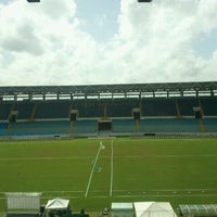 Photo taken at Estadio Monumental de Maturín by Aurora R. on 6/18/2012