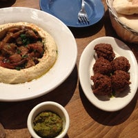 Photo taken at Hummus Place by Rhiannon S. on 7/26/2012