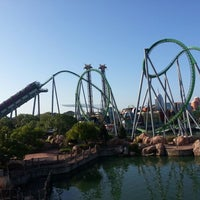 Photo taken at The Incredible Hulk Coaster by Dwayne K. on 7/28/2012