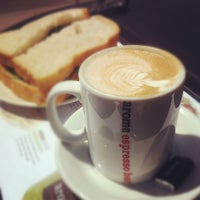Photo taken at Aroma Espresso by Ste H. on 5/17/2012