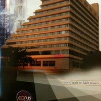Photo taken at Corus Hotel Kuala Lumpur by Azizul A. on 8/2/2012