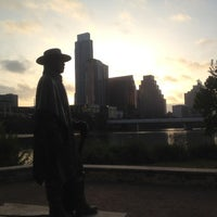Photo taken at Stevie Ray Vaughan Statue by Josh M. on 8/16/2012