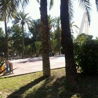 Photo taken at Jardin de los Franciscanos by Richard G. on 2/26/2012