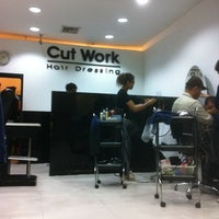 Photo taken at Cut Work Hair Dressing by Mark H. on 6/3/2012