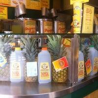 Photo taken at Papaya King by Pablo C. on 7/23/2012