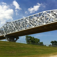 Photo taken at Huey P. Long Bridge by Wesley S. on 4/20/2012