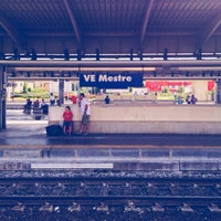 Photo taken at Venezia Mestre Railway Station (XVY) by Roberto M. on 7/28/2012