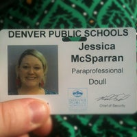 Photo taken at Denver Public Schools Administration Building by Jessica M. on 8/8/2012