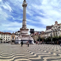 Photo taken at Rossio Square by Дмитрий on 6/17/2012