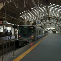 Photo taken at JR Tennōji Station by Baumkuchen on 8/11/2012