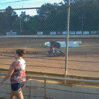 Photo taken at Airport Speedway by Leilena Kauluwehiokekoolau N. on 5/19/2012