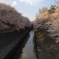 Photo taken at 尾崎橋 by Osamu F. on 4/9/2012