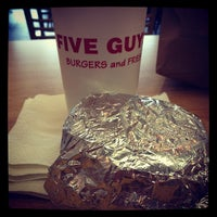 Photo taken at Five Guys by Luke A. on 4/12/2012