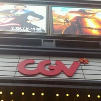 Photo taken at CGV 압구정 by Sean L. on 2/13/2012