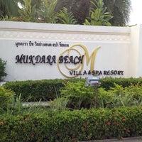Photo taken at Mukdara Beach Villa And Spa Resort by Sittichai L. on 3/19/2012