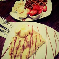 Photo taken at Max Brenner Chocolate Bar by Michelle F. on 5/6/2012