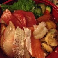 Photo taken at Sushi Tomi by Tina Hui T. on 7/25/2012