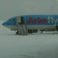 Photo taken at Kittilä Airport (KTT) by Leontien N. on 2/19/2012