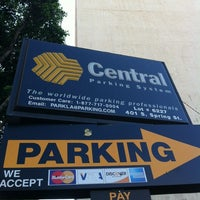 Photo taken at Central Parking, Spring & 4th by Berto M. on 8/11/2012