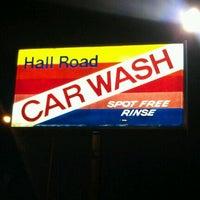 Photo taken at Hall Road Car Wash by Jonathan O. on 3/2/2012