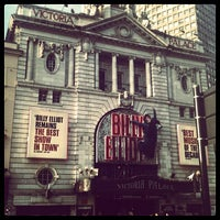 Photo taken at Victoria Palace Theatre by Sarah E. on 8/17/2012